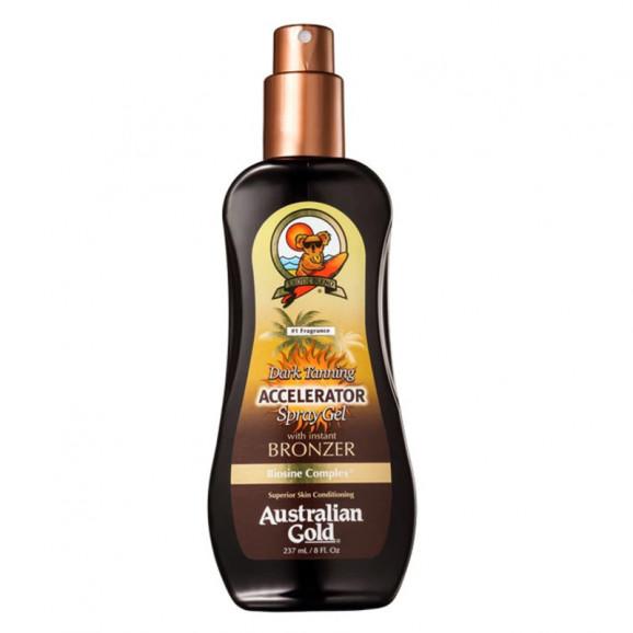 Acelerador Australian Gold Dark Tanning Spray Gel With Instant Bronzer 237ml