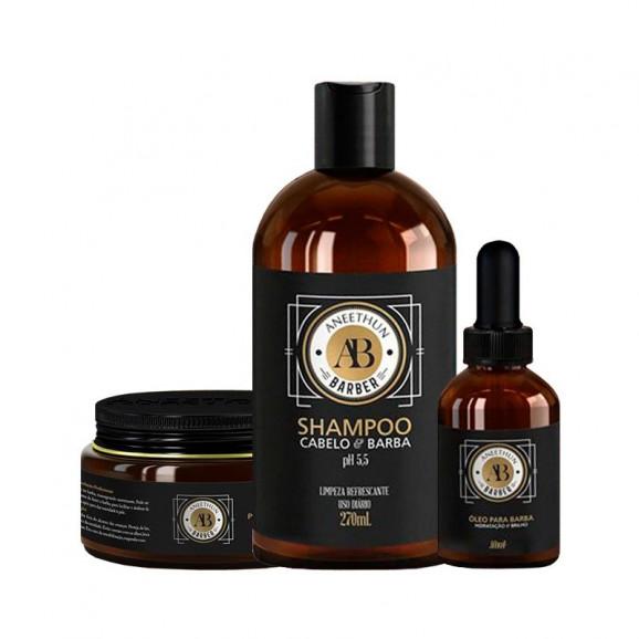 Shampoo Aneethun Barber Cabelo e Barba 270ml