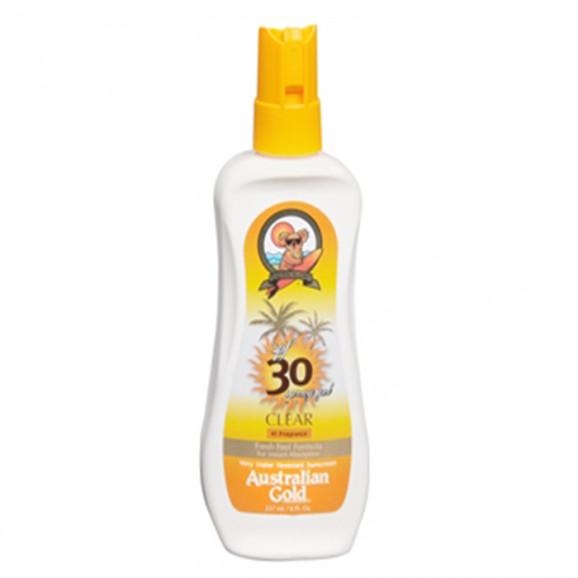 Australian Gold SPF 30 Clear Spray Gel - Protetor Solar 237ml