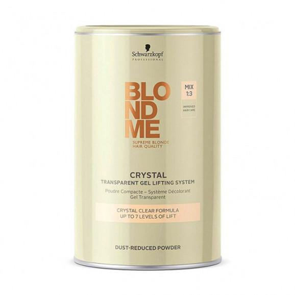 Schwarzkopf Blondme Crystal Transparente Gel Bleach - Pó Descolorante 450g
