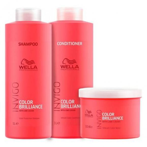 Kit Wella Invigo Color Brilliance (3 Produtos)