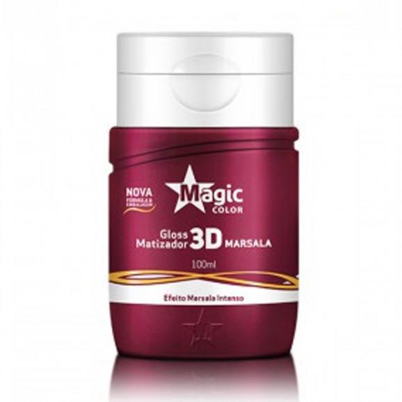 Gloss Matizador Magic Profissional 3D Marsala 100ml