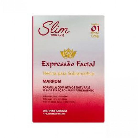 Henna para Sobrancelhas Expressão Facial Slim Marrom