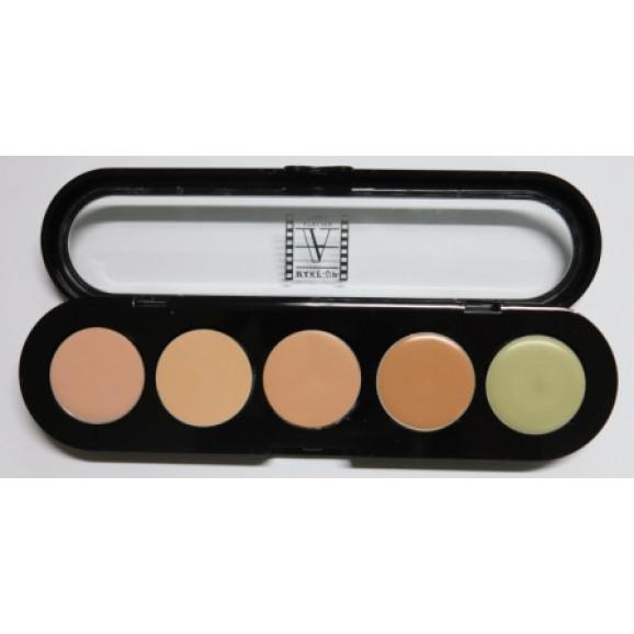 Paleta de Corretivos 5 cores c/APC2 - Make Up Atelier Paris 10g