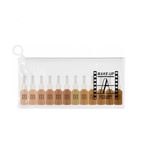 Mini Kit 12 Bases Atelier Paris Pele Bronzeada 7ml