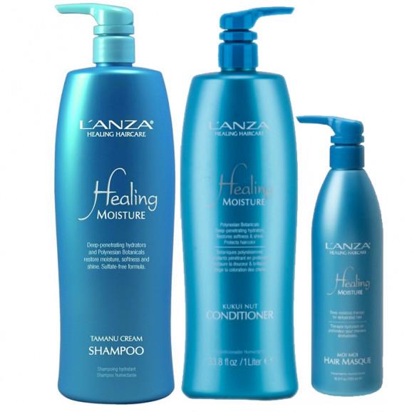 Kit Lanza Healing Moisture Holiday Litro (3 produtos)