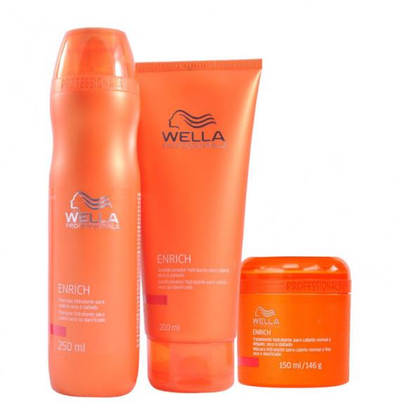 63d467c94 Wella Professionals Enrich Cabelos Finos Kit (3 Produtos) - Meu ...