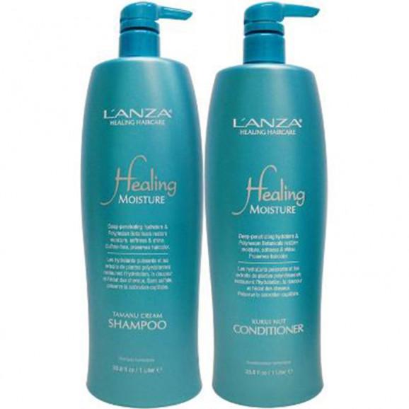 Kit Lanza Healing Moisture Holiday Duo Litro (2 produtos)