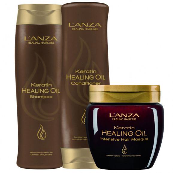 Kit Lanza Keratin Healing Oil (3 Produtos)