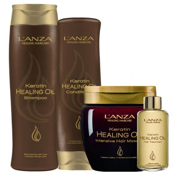 Kit Lanza Keratin Healing Oil  (4 Produtos)
