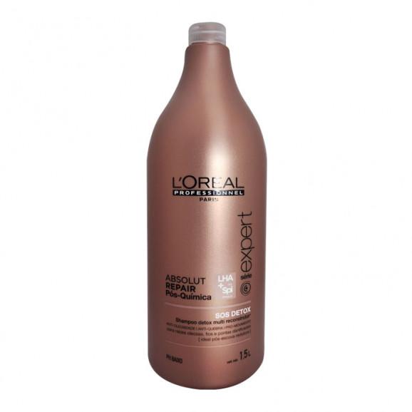 Shampoo SOS Detox Loreal Professionnel Absolut Repair Pós Química 1500ml