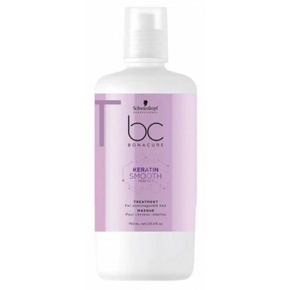 Máscara de Tratamento Shampoo Schwarzkopf BC Keratin Smooth Perfect 750ml