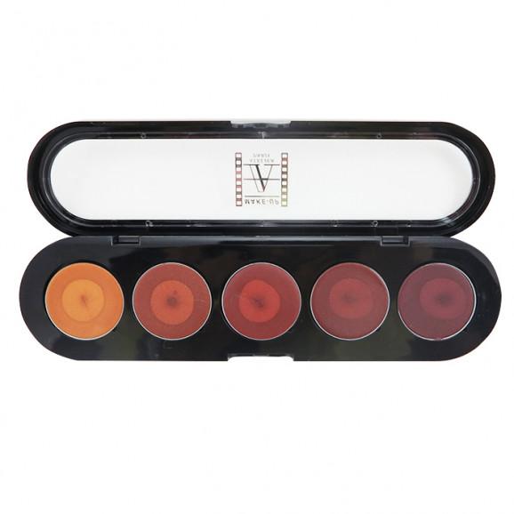 Paleta de Batons 5 cores Maquiagem Make Up Atelier Paris - PAL23