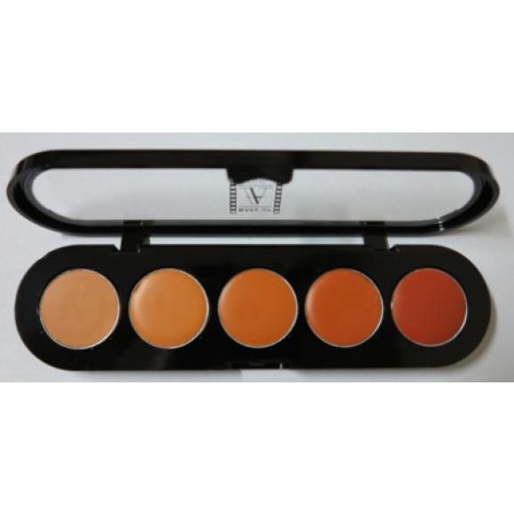 Paleta de Corretivos 5 cores APN sem Marrom - Make Up Atelier Paris 10g