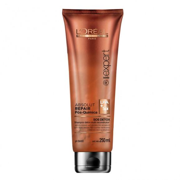 Shampoo SOS Detox Loreal Professionnel Absolut Repair Pós Química 250ml