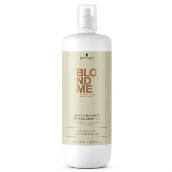 Shampoo Schwarzkopf Blondme pH Acid Balance Keratin - 1000ml