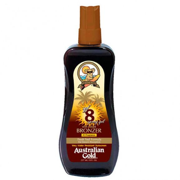 Australian Gold SPF 8 Spray Gel Sunscreen Instant Bronzer - Bronzeador 237ml