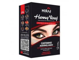Kit Henna Niraj para Design de Sobrancelhas Castanho Avermelhado