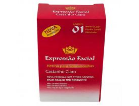 Henna para Sobrancelhas Expressão Facial Castanho Claro