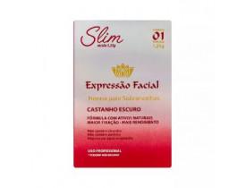 Henna para Sobrancelhas Expressão Facial Slim Castanho Escuro