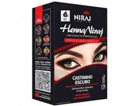 Kit Henna Niraj para Design de Sobrancelhas Castanho Escuro