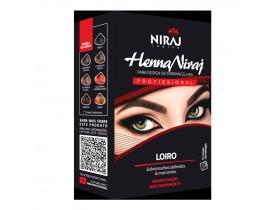 Kit Henna Niraj para Design de Sobrancelhas Loiro