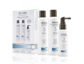 Kit Nioxin System 5 Para Cabelos Normais a Espessos (3 Produtos)