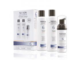 Kit Nioxin System 6 Para Cabelos Normais a Espessos (3 Produtos)