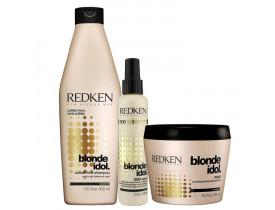 Kit Redken Blonde Idol. (3 produtos)