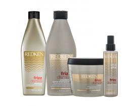 Redken Frizz Dismiss Kit para Cabelos Finos (4 Produtos)