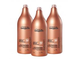 Kit Shampoo SOS Detox Loreal Professionnel Absolut Repair Pós Química 1500ml (3 Unidades)