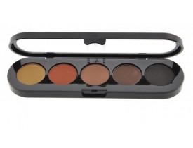 Paleta de Sombras Delineadores TE10 - Palette 5 Cores - Make Up Atelier Paris